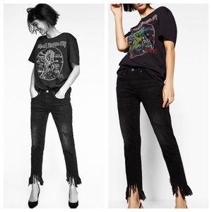 Zara Black Boyfriend Jeans